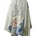 イレギュラーヘムの昼夜帯スカート