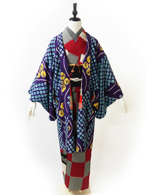 市松模様の着物